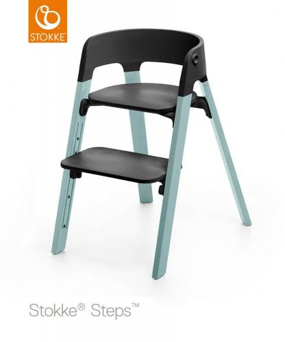 STOKKE Steps - Aqua/Black