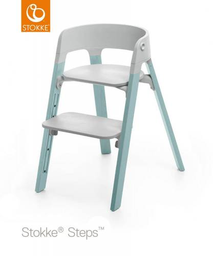 STOKKE Steps - Aqua/Grey