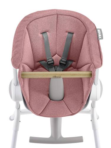 BEABA Up&Down High Chair Textile Seat - Pink