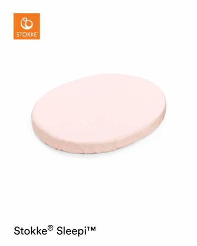 STOKKE Sleepi Fitted Mini Sheet - Pink Bee OCS