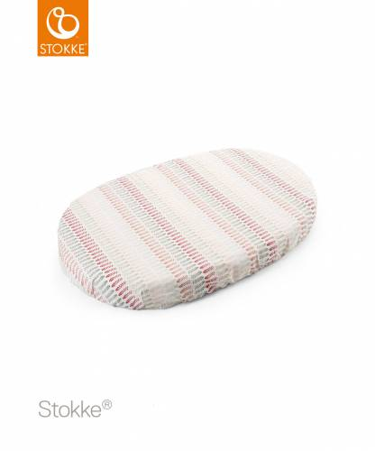 STOKKE Sleepi Fitted Mini Sheet - Coral Straw S