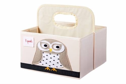 3 SPROUTS Diaper Caddy - Snowy Owl