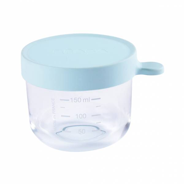 BEABA Food Jar Glass 150 ml - L. Blue