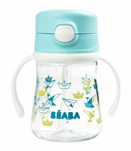 BEABA Straw cup 240ml - Light Blue S