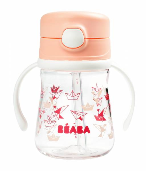 BEABA Straw cup 240ml - Light Pink S