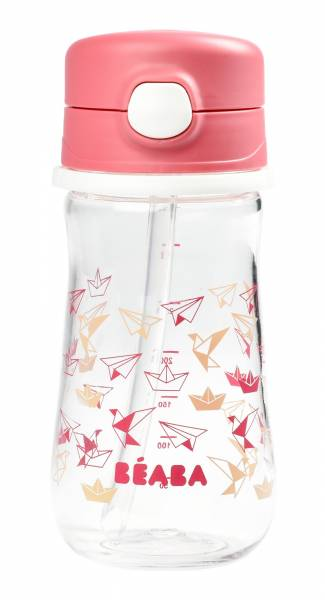 BEABA Straw cup 350ml - Dark Pink S