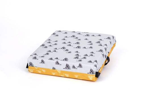 SIMPLY GOOD Booster Cushion - Hedgehogs on Yellow