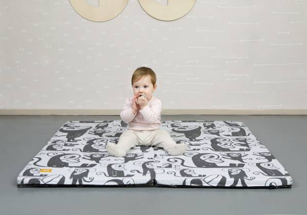 SIMPLY GOOD Portable Soft Mat - Grey Elephants