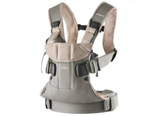 BABYBJORN Carrier One - Cotton Classic Grey/Pink Sprinkles