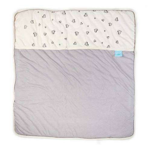 GITTA Blanket Large - Grey Hearts