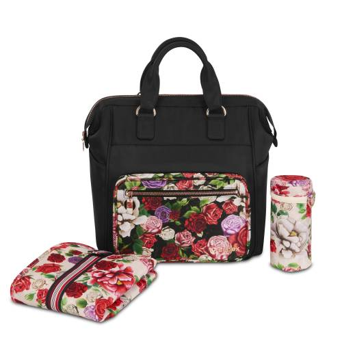 CYBEX PRIAM Changing Bag - Spring Blossom Dark/black
