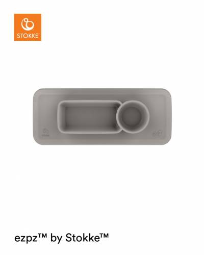 STOKKE ezpz Clikk Tray Placemat - Soft Grey