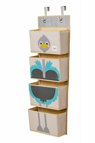 3 SPROUTS Hanging Wall Organizer - Ostrich