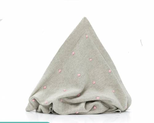 FILLIKID Knitted Blanket - Grey