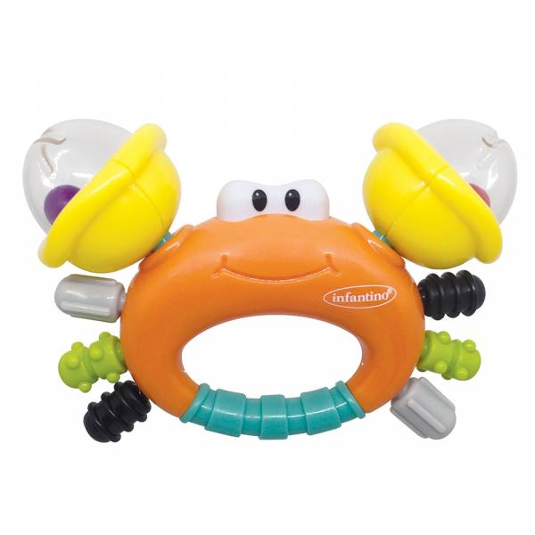 INFANTINO Rattle & Teether Sand Crab