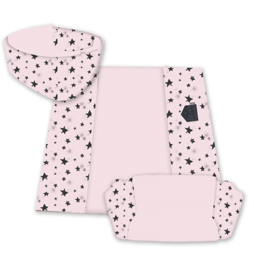 MINENE 3in1 Activity Mat - Pink Stars