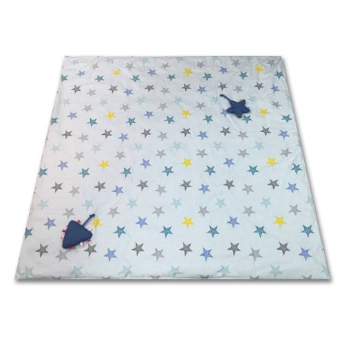 MINENE Portable Activity Mat stars on Light Grey