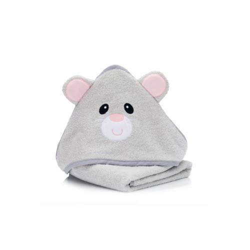 FILLIKID Hooded Towel 75x75cm - Mouse