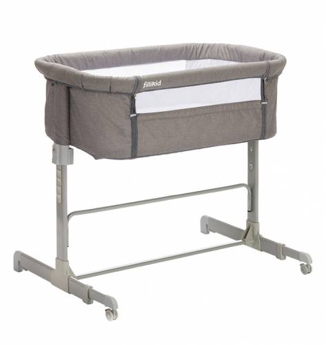 FILLIKID Bedside Crib/Foldable - Grey