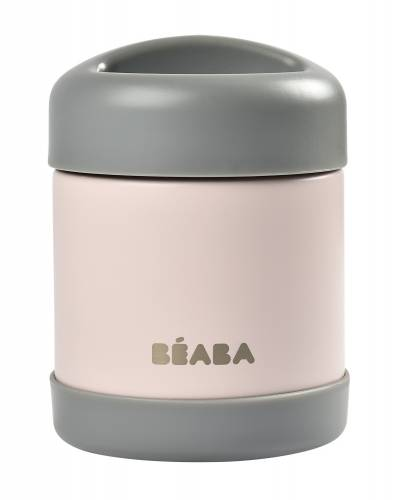 BEABA Thermo Food Jar 300 ml - Dark Mist/Light Pink